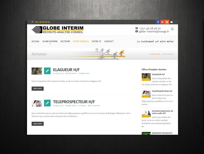 GLOBE INTERIM